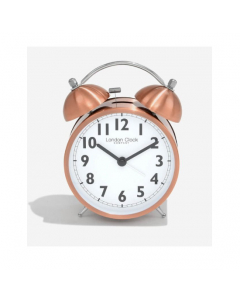 London Clock Company Brushed Copper Twinbell Alarm Clock