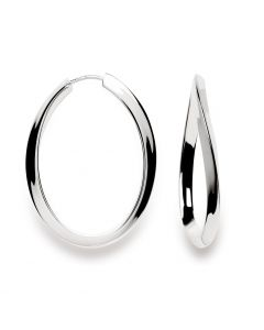 Bastian Inverun Oval Hoops in Polished Sterling Silver