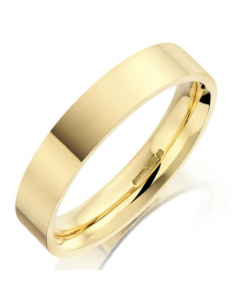 18ct Yellow Gold 4mm Flat Court Wedding Ring By Charles Green