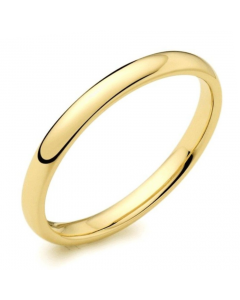 9ct Yellow Gold 3mm Light Court Wedding Ring By Charles Green
