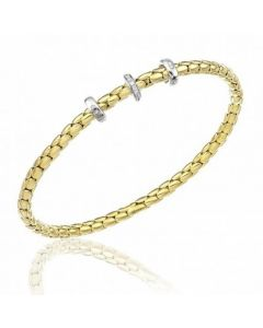 Chimento 18ct Gold Stretch Spring Diamond Bracelet