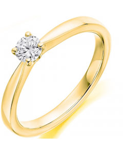 9ct Gold 0.25ct Diamond Solitaire Engagement Ring