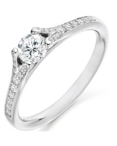 18ct white gold 0.48ct Diamond Solitaire Engagement Ring