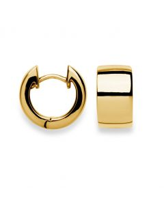 Bastian Earrings Huggies Gold-Plated Sterling Silver