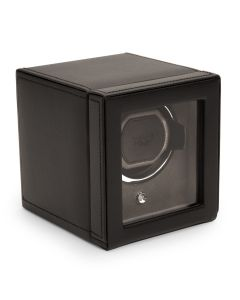 Wolf Black Cub Watch-Winder with Cover