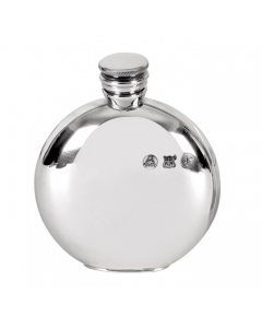 Circular Stainless Steel Screwtop Hip Flask