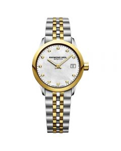 Raymond Weil Womens Two-Tone Diamond Freelancer Watch