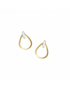 Amore 9ct Yellow and White Gold Open Top Stud Earrings