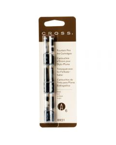 Cross Fountain Pen Black Ink Cartridges (pack of 6)
