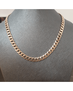 "9ct Gold Solid Filed Curb Link 19"" Chain 52g"