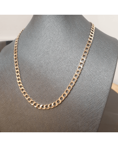 "9ct Gold Solid Filed Curb Link 19"" Chain"