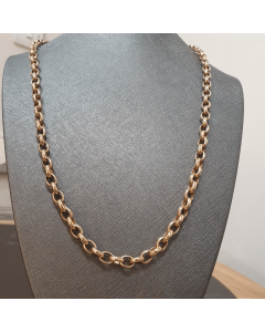9ct Gold Oval Belcher Chain 60g