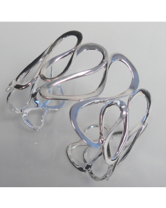 Sterling Silver Abstract Bangle