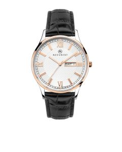 Accurist Men's Rose Gold and Black Watch