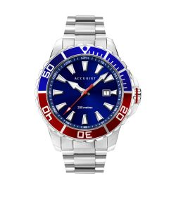 Accurist Men's Blue and Red Diver Watch