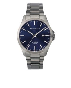 Accurist Men's Blue Titanium Watch dial