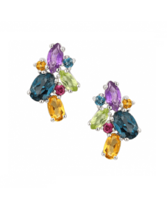 Amore Argento Rainbow Cocktail Earrings