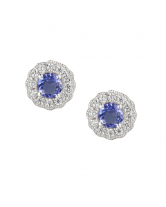 Amore Argento Silver & Tanzanite Stud Earrings