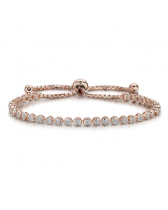 Jools by Jenny Brown Rose Gold and Sterling Silver Brilliant Cubic Zirconia Bracelet