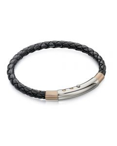 Fred Bennett Two-Tone Leather Bracelet