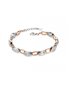 Fiorelli Silver and Rose Gold Plated Marquise Bracelet