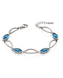 Fiorelli Blue Crystal Silver Marquise Bracelet