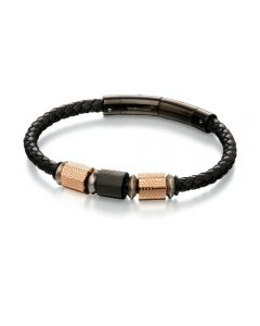Fred Bennett Hexagon Leather Woven Bracelet