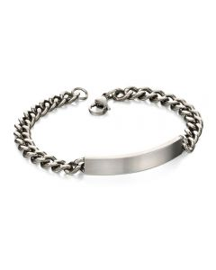 Fred Bennett Stainless Steel Brushed iD Bracelet