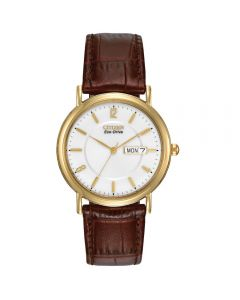 Citizen Gents Eco Drive With Leather Strap