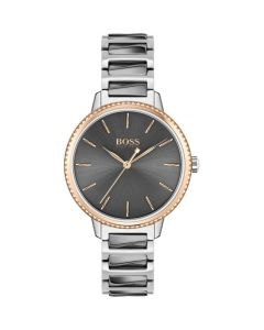 BOSS Watches Grey and Rose Gold Ladies Signature Watch