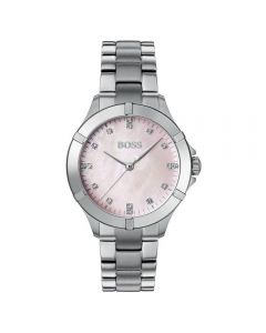 BOSS Watches Ladies Pink Mother Of Pearl Mini Sport Watch
