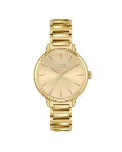 BOSS Watches Ladies Gold Tone Signature Bracelet Watch