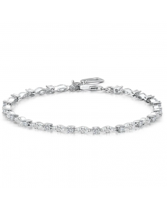 Jools by Jenny Brown Marquise Cubic Zirconia Tennis Bracelet