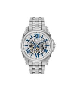 Bulova Classic Stainless Steel Automatic Skeleton Watch