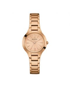 Bulova Ladies Classic Round Rose Gold Watch