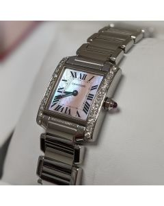 Cartier Mother-Of-Pearl Tank Francaise
