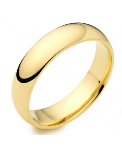 18ct Yellow Gold 6mm Medium Court Wedding Ring By Charles Green