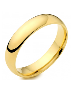 18ct Yellow Gold 5mm Medium Court Wedding Ring By Charles Green