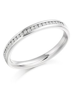 18ct White Gold 0.15ct Diamond Channel Set Half Eternity Ring