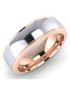 Palladium and Rose Gold Wedding Ring By Charles Green