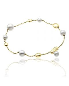 Chimento 18ct Gold Armillas Acqua Pearl Bracelet