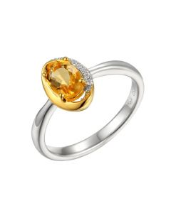 Amore Argento Silver Citrine Ring