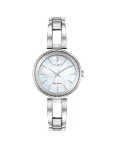 Citizen Eco-Drive Ladies Mother Of Pearl Silhouette Watch
