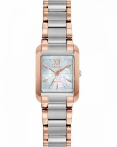 Citizen L Eco-Drive Ladies Rose Gold and Mother Of Pearl Watch