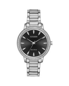 Citizen Eco-Drive Silhouette Crystal Dial Ladies Watch