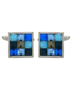 Dalaco Blue Square Steel Cufflinks