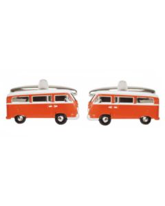 Dalaco Orange Camper Van Cufflinks