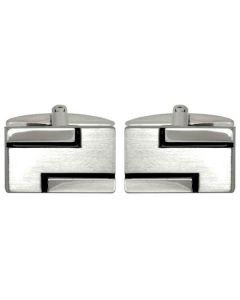 Dalaco Rectangular Detailed Cufflinks