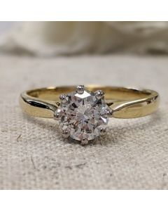 Pre-Owned 18ct Yellow Gold 0.87ct Solitaire