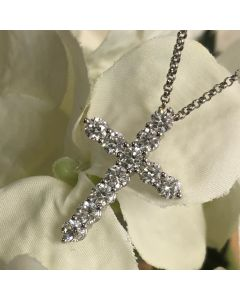 Pre-Owned 2.03ct Diamond Cross Pendant with Chain